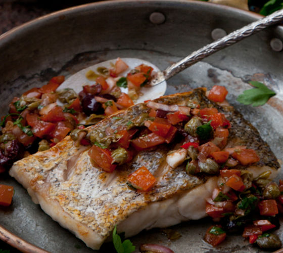 Pan roasted hake recipe