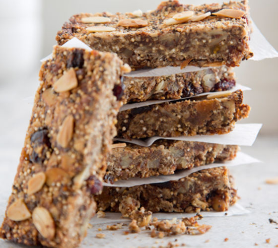 Chia  Oat Quinoa Bars Recipe