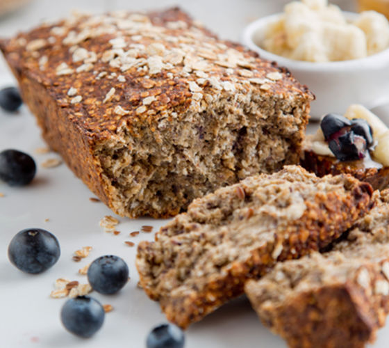 Banana blueberry oat bread recipe
