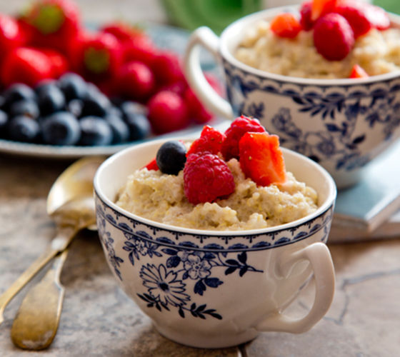 Creamy quinoa coconut porridge recipe