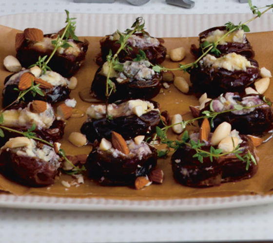 Dates stuffed rossini blue cheese recipe3