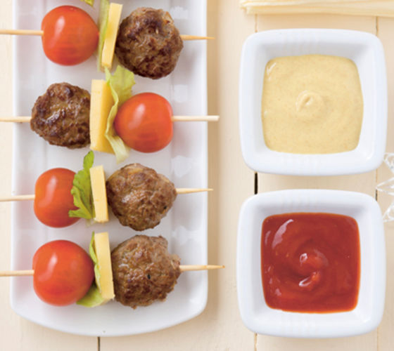 Mini burger skewers recipe