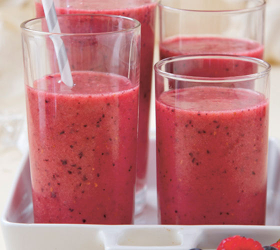 Peppy berry smoothie recipe