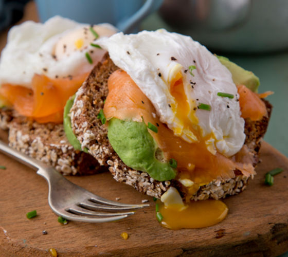 Poached eggs avocado smoked salmon recipe