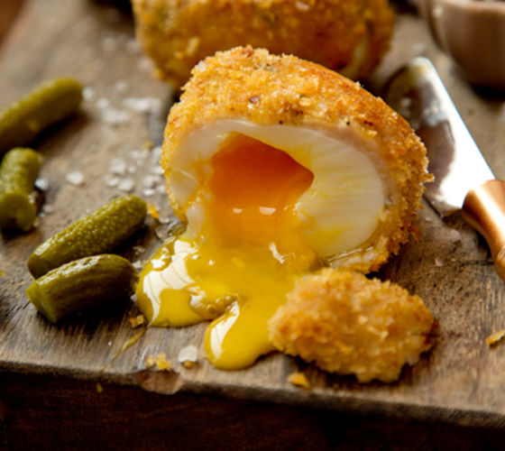 Scotch eggs brown sauce recipe