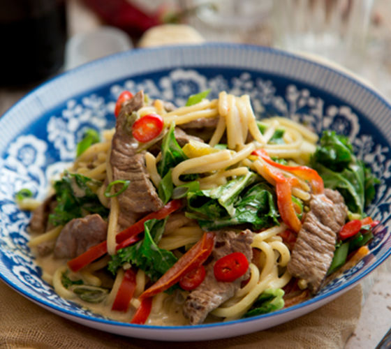 Thai beef noodles recipe