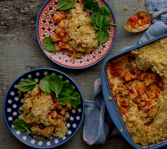 Turkey pie couscous topping recipe