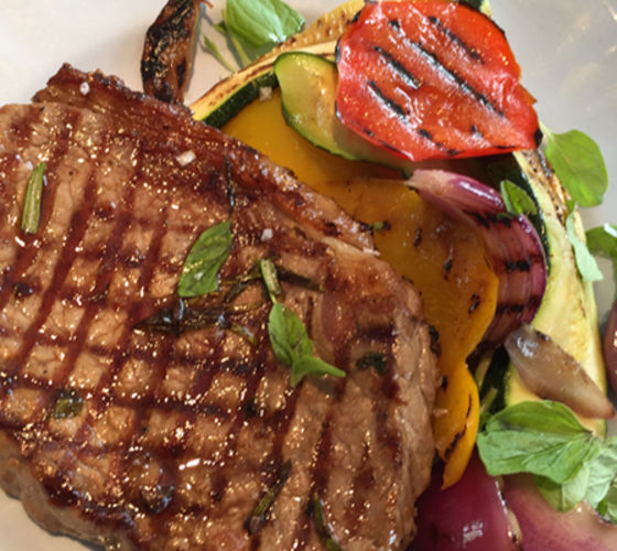 Bbq steak grilled veg recipe