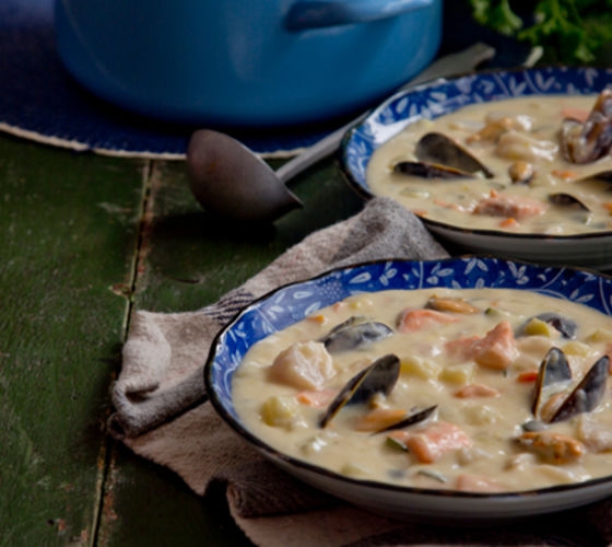 Chunky seafood chowder recipe