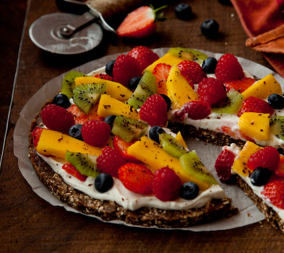Fruity chocolate pizza recipe
