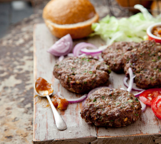 Healthy homemade burgers recipe