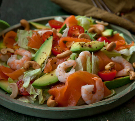 Healthy seafood salad recipe