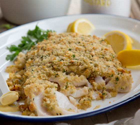 Honey mustard crusted cod recipe
