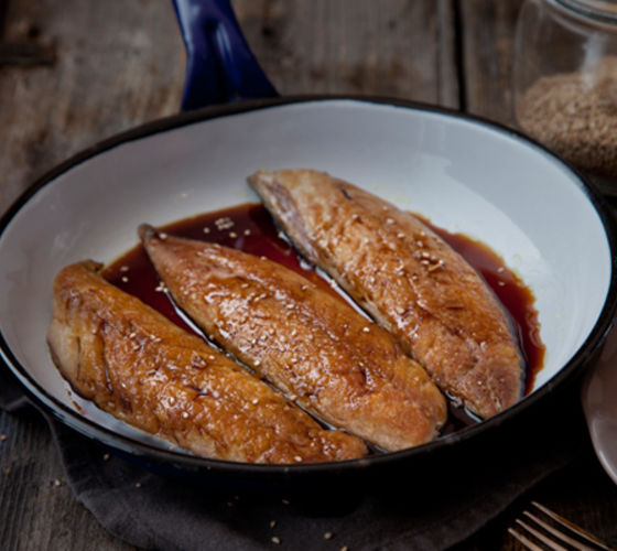Mackerel sesame soy recipe