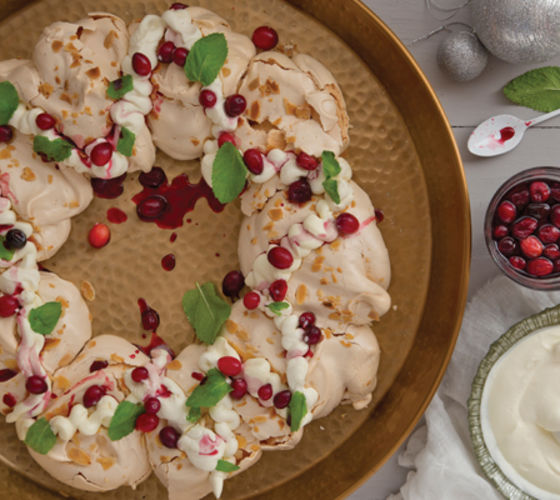 Almond Meringue Wreath