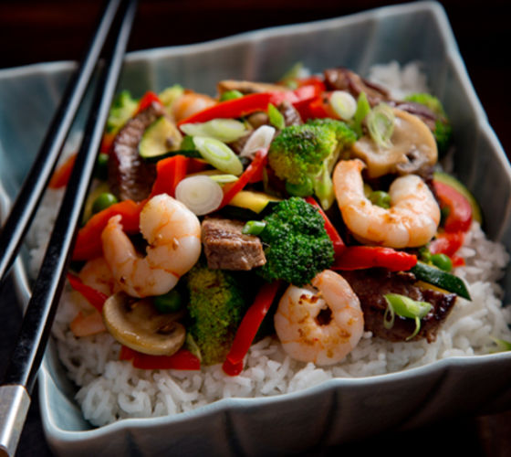 Prawn beef stir fry recipe