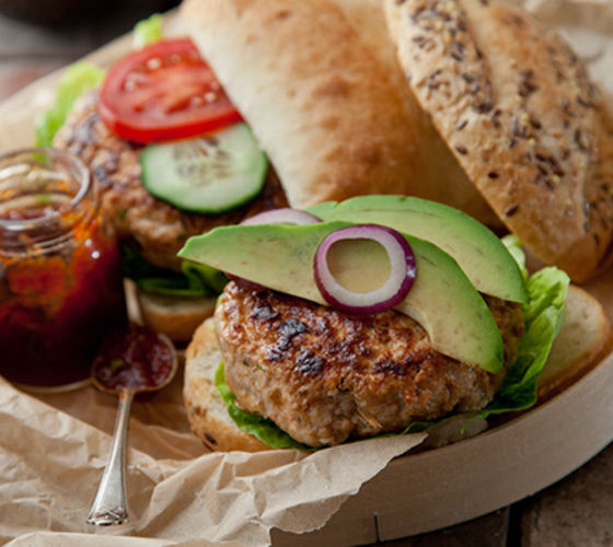 Smokey turkey burgers recipe