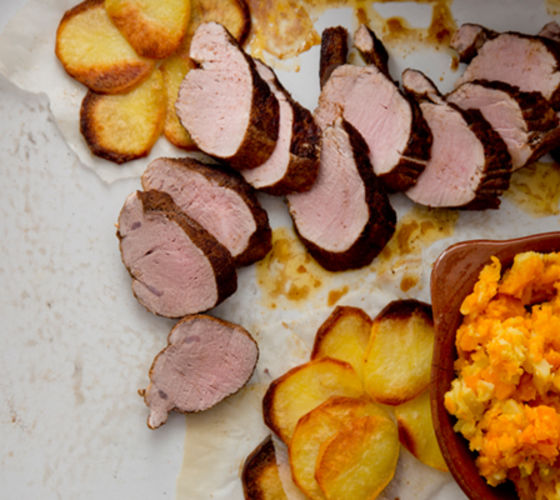 Spiced pork fillet recipe