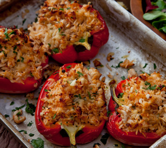 Stuffed turkey mince peppers recipe