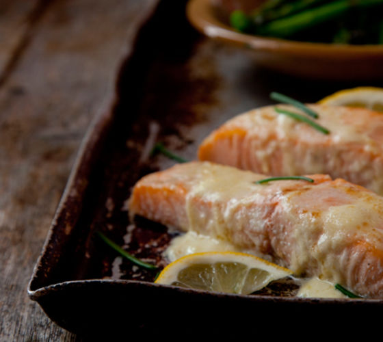 Salmon hollandaise recipe
