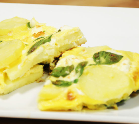 Spinach & Feta Frittata Recipe