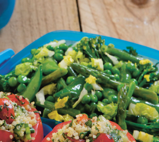 Big Green Vegetable Salad with Herby Dressing