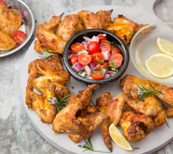 Summery Crispy Chicken Wings