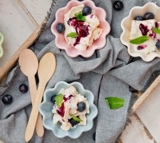 Blueberry Eton Mess
