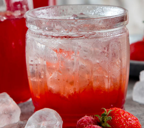 Homemade Strawberry Cordial