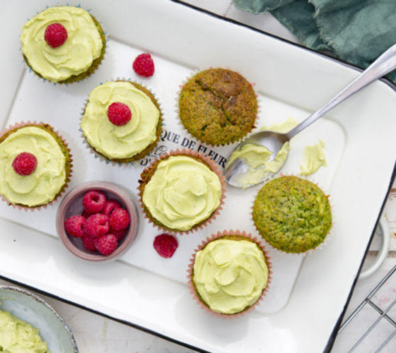 Superhero green cupcakes recipe