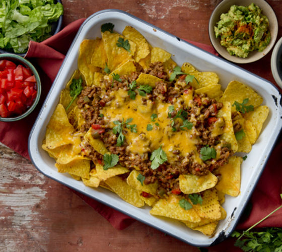 Minced beef nachos recipe