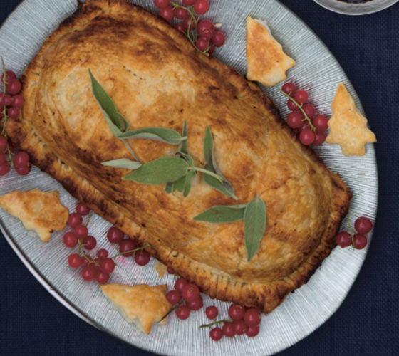 Chestnut root veg wellington