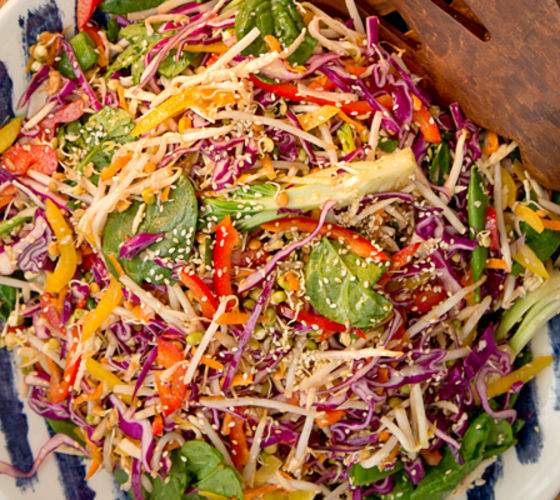 Hapy pear asian style autumn slaw