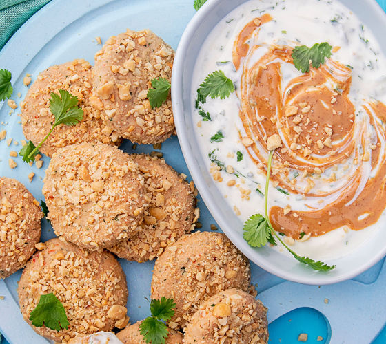 SuperValu Sharon Hearne-Smith Chicken and Peanut Butter Bites With Lime Yogurt Dip