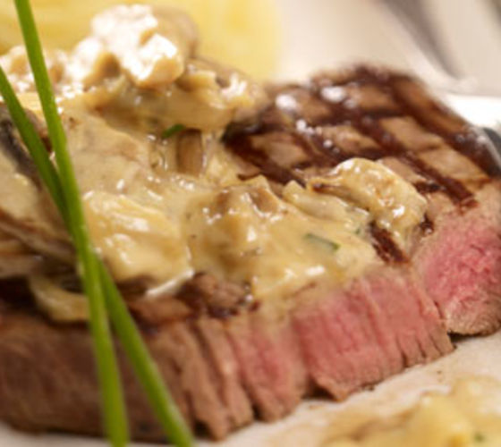 Fillet Of Beef With Wild Mushroom Cream Sauce