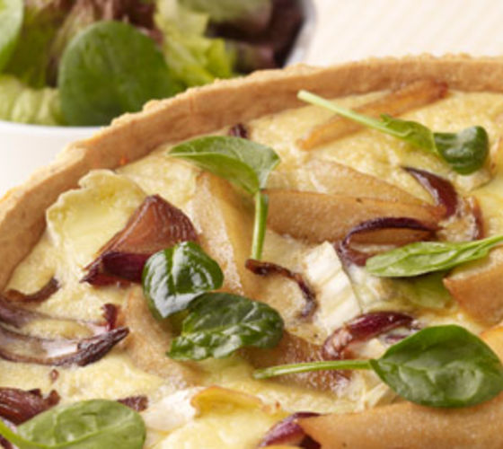 Caramelised Pear and Brie Tart