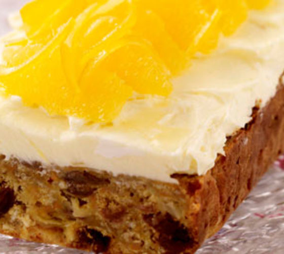 Carrot Cake with Cream Cheese Orange Icing