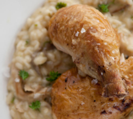 Chicken And Wild Mushroom Risotto