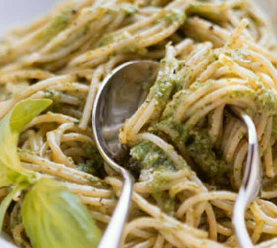 Creamy Green Pesto Pasta