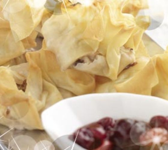 Goats Cheese & Cranberry Parcels