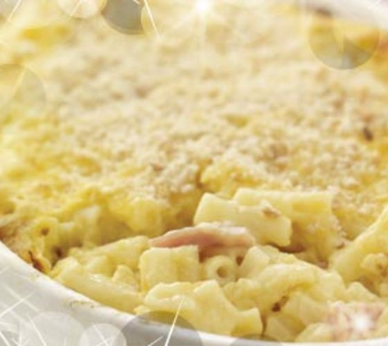 Baked Macaroni with Ham & Cheese