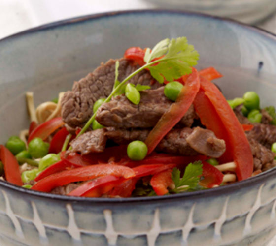 Beef & Vegetables with Noodles