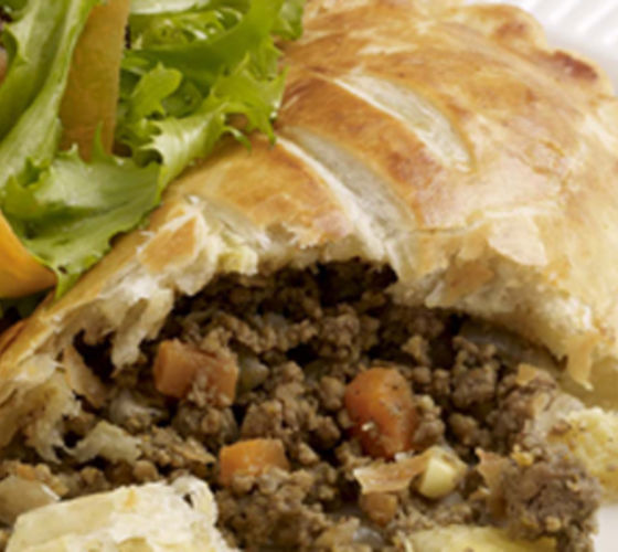 Spicy Lamb Pastries with Side Salad