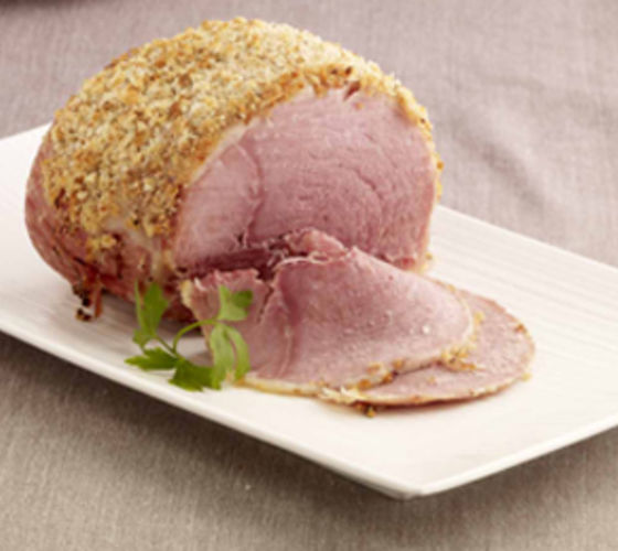 Whole Baked Ham with a Herb crust and Colcannon