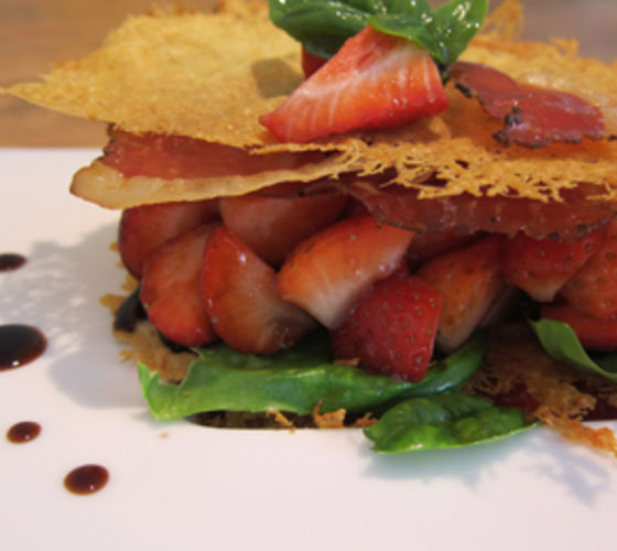 Savoury Strawberry and Parmesan Mille-Feuille