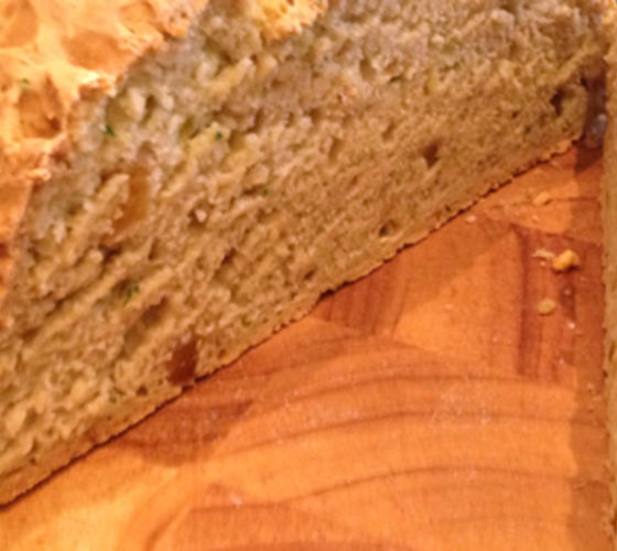 Sultana and Apricot White Soda Bread
