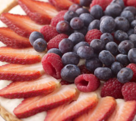 White Chocolate and Berry Tart