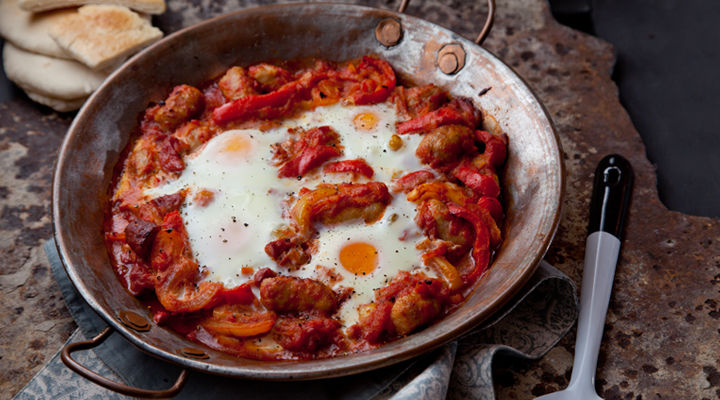 Morrocan baked eggs recipe