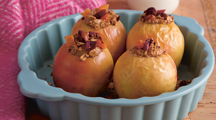 Baked apples with nut butter recipe