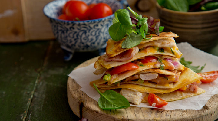 Chicken bacon quesadilla recipe